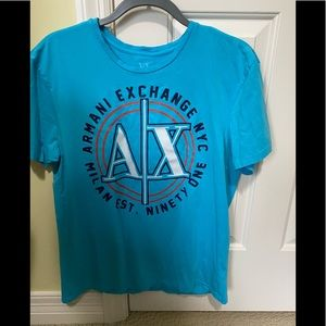 Armani Exchange Designer turquoise shirt L